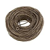 Black Hemp Cord 61m Perfect for Necklace Making Candle Wicks or Decorative String Pure Bee Wax DIY Oil Lamp(Dark)