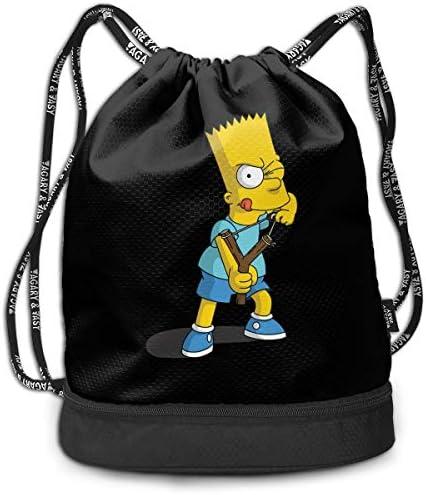 シンプソンズ4 大容量 クファッション印刷 バックパッ男女兼用 バックパック小新鮮 旅行スポーツバッグ 防水スイミングバック学生バッグ 多機能 収納バックパッ