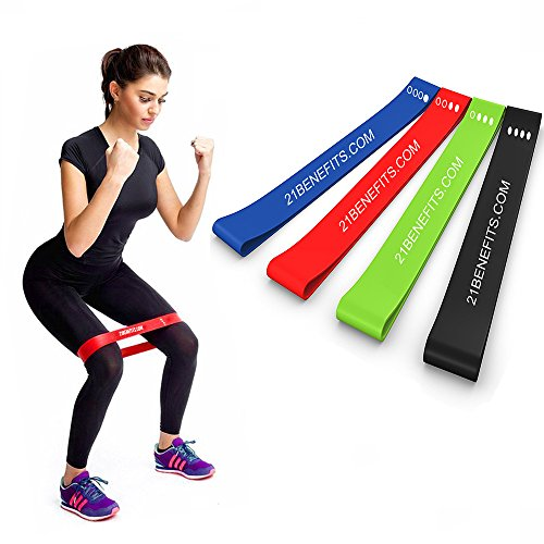Resistance Loop Exercise Bands - Exercise Bands Legs Butt - Stretch Bands - Workout Bands - Weight Lifting Set Men Women