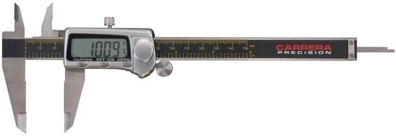 Carrera Precision CP8806-T 6-Inch Stainless Steel Digital LCD Caliper Micrometer