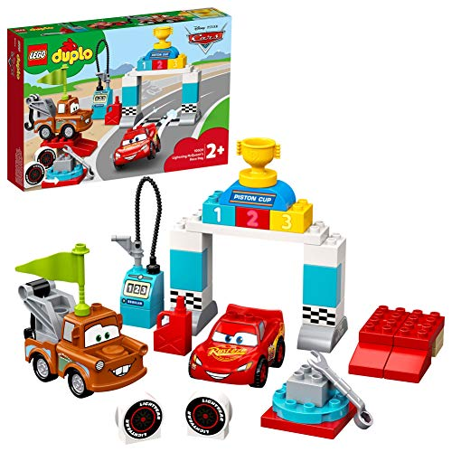LEGO 10924 DUPLO Disney en Pixar Cars Bliksem McQueen's racedag, Speelgoed auto met Figuren van McQueen en Takel voor…