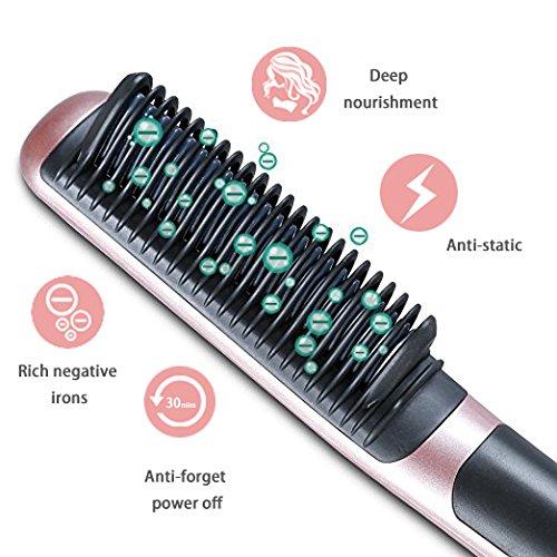 K-SKIN Tourmaline Ceramic Hair Straightener Straightening Brush Comb Anti-scald Faster Heating with 6 adjustable heat settings by K-Skin (Image #2)