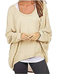 Womens Long Batwing Sleeve Shirt Loose Pullover Sweaters