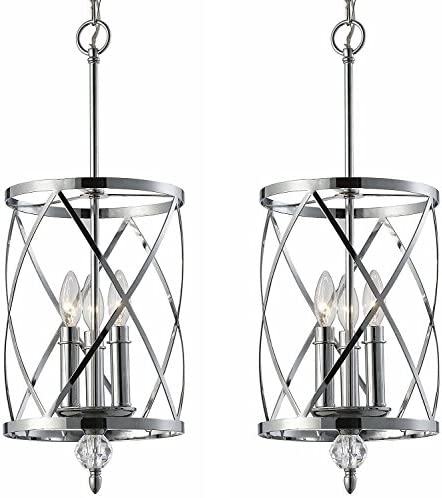 Canarm ICH172B03CH10 Vanessa 3-Light Chandelier, Chrome 2