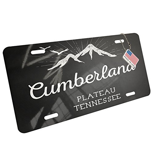 Metal License Plate Mountains chalkboard Cumberland Plateau - Tennessee - - Cumberland Atlanta Ga