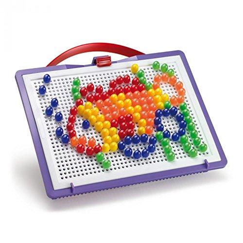 Quercetti 0922 - Mosaik-Steckspiel FantaColor inklusiv 150 Stecker, 10 mm, farbig sortiert