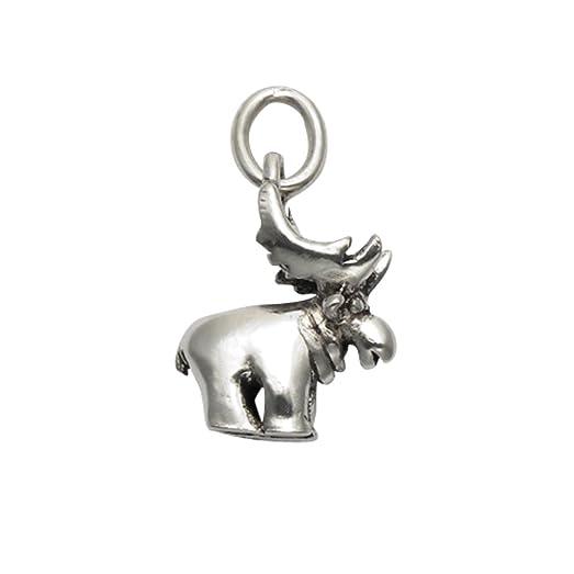 Amazon sterling silver moose pendant jewelry sterling silver moose pendant aloadofball Images