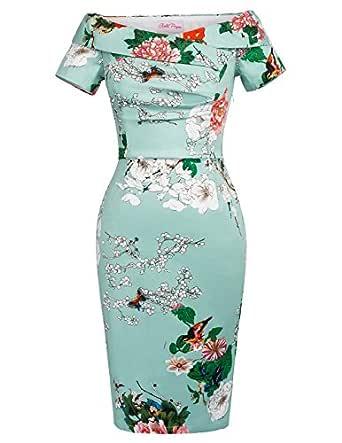 Belle Poque Women Vintage Retro Wiggle Dress Size 10 BP117-7