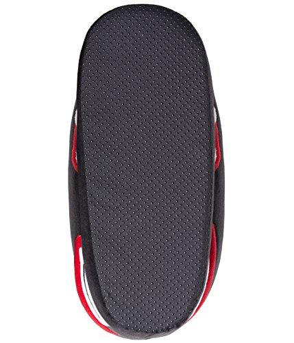 Coucharmy Jay Four Hausschuhe Unisex Premium Home Sneakers Pantoffel (36-46) Schwarz/Grau