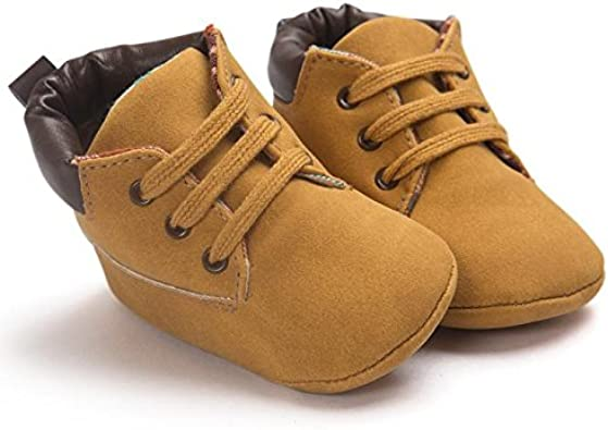 Baby Boys Girls Leather Boots Soft Sole Moccasins Toddler Pre-Walkers Waterproof Shoes Infant Winter Nursling Snow Booties