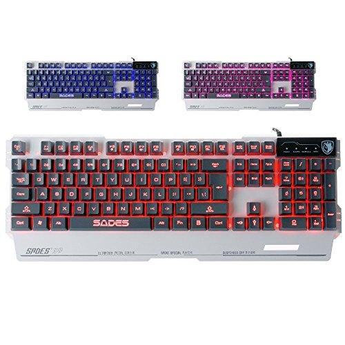 Sades Keyboard Colorful Backlight Base White