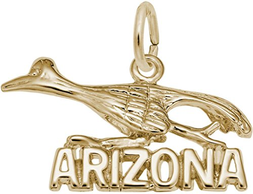 Rembrandt Arizona Road Runner Charm - Metal - 14K Yellow Gold (Gold Runner Charm 14k)