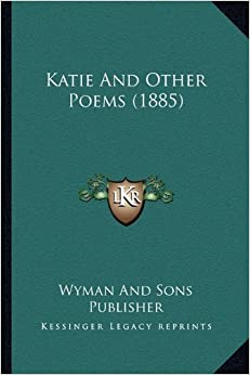 Book Katie and Other Poems (1885)