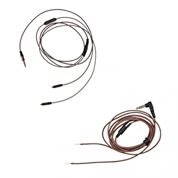 Homyl 3.5mm Jack Port Headset DIY L-Shaped Repair Cable + 3.5mm Auriculares