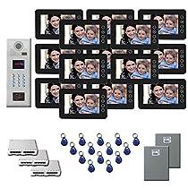 Building Video Intercom 14 7 color monitor door camera key fob