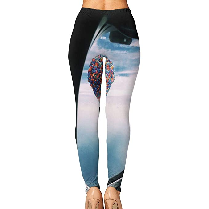 e726f07086 Amazon.com: Hot Air Balloon Printing Compression Leggings Pants Tights for Women  S-XL: Clothing