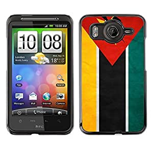 Shell-Star ( National Flag Series-Mozambique ) Snap On Hard Protective Case For HTC Desire HD / Inspire 4G