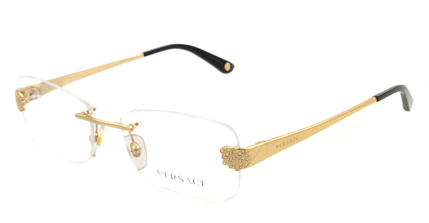 8e93c1755bd Versace Eyeglasses VE 1203 GOLD 1002 VE1203  Amazon.co.uk  Clothing