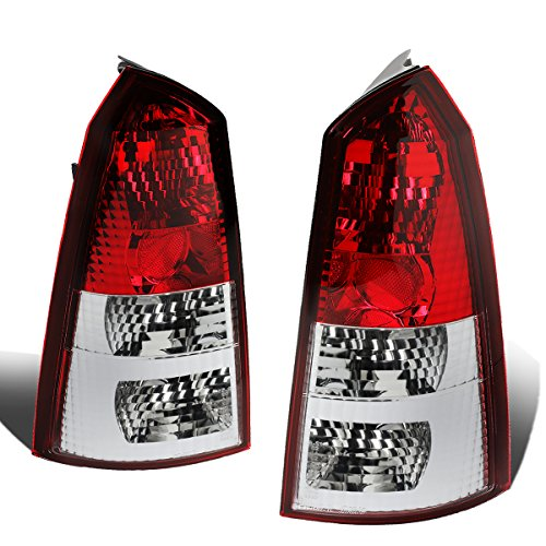 DNA Motoring CLOSE-TLR-FCS-0004-W Pair Tail Light Brake Lamps [For 02-07 Ford Focus 5Dr Wagon] - Ford Focus Altezza