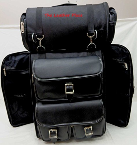 LARGE BAR LUGGAGE BAG BLACK NEW SISSY TRAVEL BACK MOTORCYCLE PACK BAR TRAVEL dEzqadx