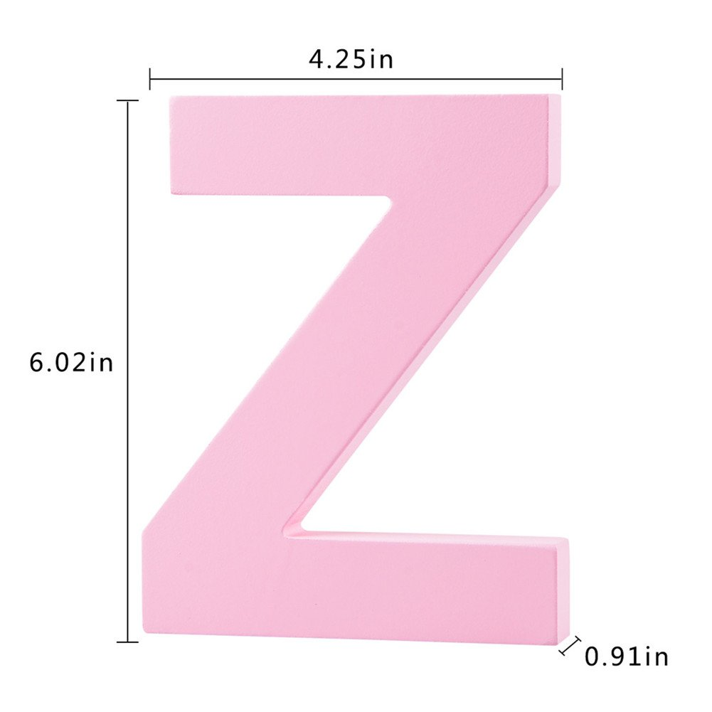 Amazon.com: Decorative Wood Letters Z Hanging Wall 26 Letters Wooden ...