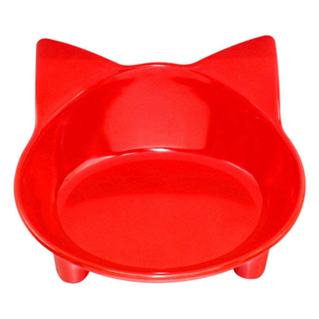 bluee Ronghuafugui Cat Dog Feeding Bowl Cat Puppy Food Dish Container Pet Puppy Drink Water Bowl (color   blueE)