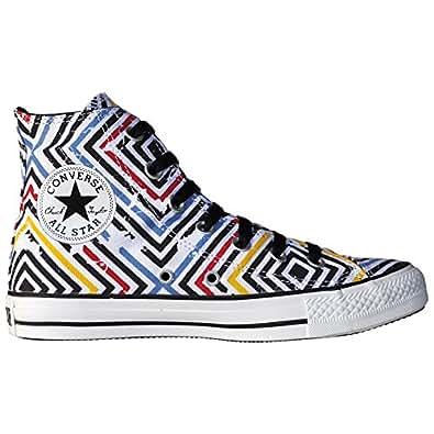 Converse All Stars Chuck Taylor Abstract Color Blanco Negro Amarillo Rojo Rayas 130131gr: 37,5/5,5