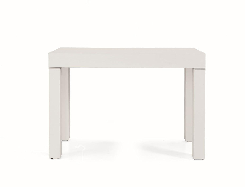Consolle Allungabile Legno Arredinitaly Bianco 110 X 50 X 75 Cm Diventa Un Comodo Tavolo Per 12 Persone Casa E Cucina Console