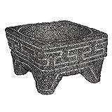 Real volcanic rock mortar and pestle - Molcajete de Piedra (Square Short)