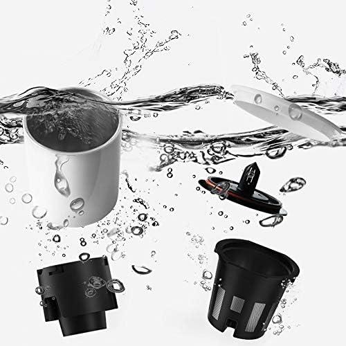 Ouqian-KT Tragbare Espressomaschine Tragbare Capsule Kaffeemaschine Haushaltsklein Tee im Freien Spielraum Auto-Gebrauch Elektrische Reisen Kaffeemaschine (Farbe : White, Size : 7.5x23.5cm)
