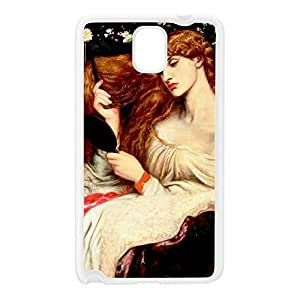 Lady Lilith by Dante Gabriel Rossetti White Silicon Rubber Case for Galaxy Note 3 by Painting Masterpieces + FREE Crystal Clear Screen Protector