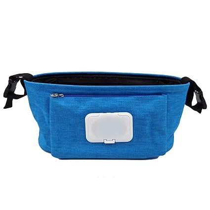 Organizador Cochecito, Cochecito Buggy Bolsa de almacenamiento con caja para toallitas húmedas para teléfono,