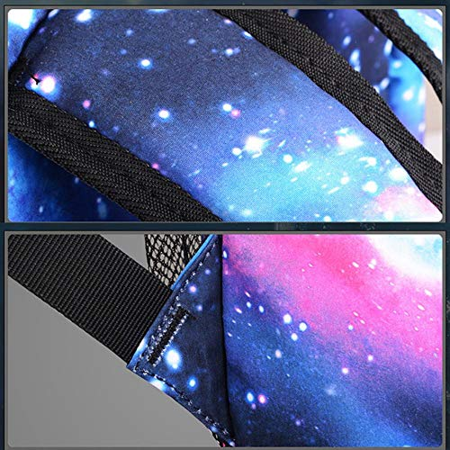 School Backpack Cool Luminous School Bag for Boys Girls Teens Large Galaxy Laptop Bag (Music Boy) by BWOLF (Image #4)