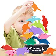 HahaGift Toys for 3 4 5 6 Year Old Boys & Girls, Dinosaur Balance Stacking Toys Gifts for Kids Age 3-8, Ch