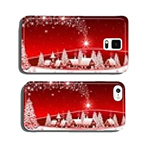 Red Winter Landscape cell phone cover case Samsung S6