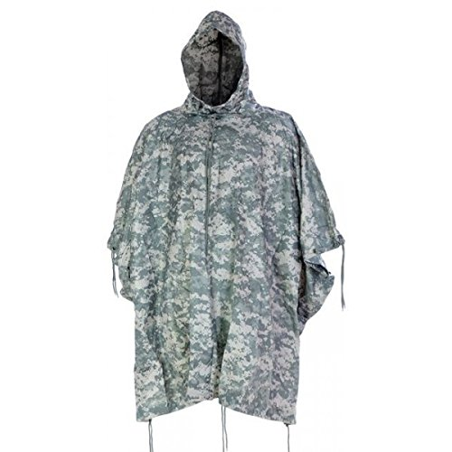 Brand New Fashion Us Waterproof Hooded Ripstop Wet Festival Rain Poncho At-Digital ()