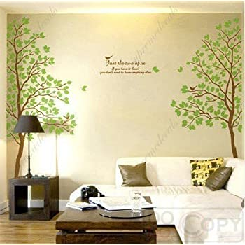 Beau Tree  Wall Art Decals Graphic For Home Decor/ Wall Sticker (Twin Tree)