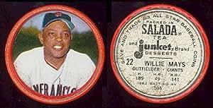 1963 Salada Tea Coins Baseball Card 22 Willie Mays Of