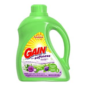 Gain With Freshlock Simply Fresh Liquid Detergent 48 Loads 100 Oz (Pack of 4)