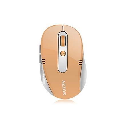 azzor S5 Batería Wireless Silencio Ratón Mini con Cable de Carga USB 2,4 GHz