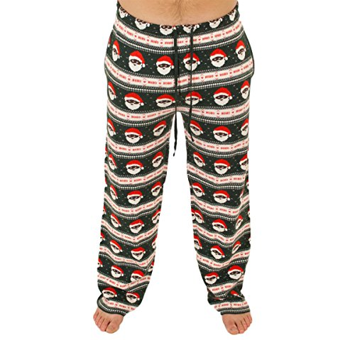 Black Santa Holiday Sweater Pants
