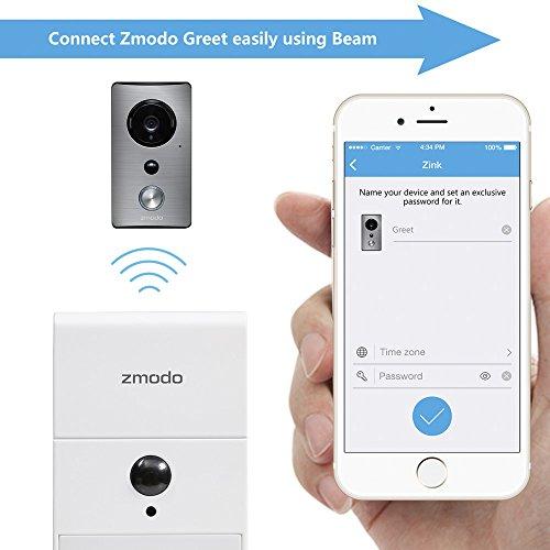 zmodo greet wireless video doorbell with beam wi fi. Black Bedroom Furniture Sets. Home Design Ideas