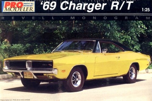 Pro Modeler 1969 '69 Dodge Charger R/T 1:25th Scale Car Model Kit 25 1969 Dodge Charger
