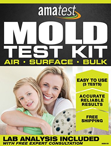 Amatest AMA109 Mold Test Kit, 3-Tests, Includes Lab Analysis Fee, Prepaid Freight Envelope and Expert (Kit Freight)
