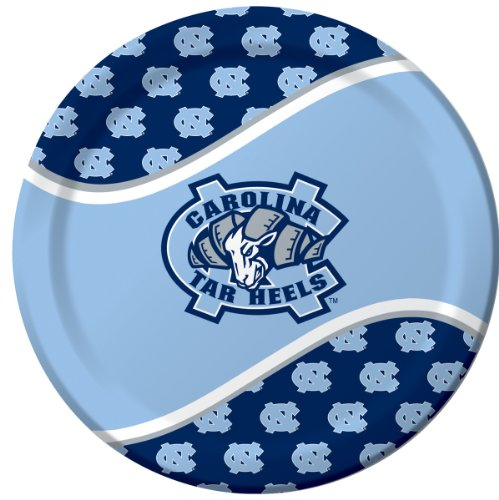 Creative Converting North Carolina Tar Heels Dinner Paper Plates, 8-Count (Themed College Parties)