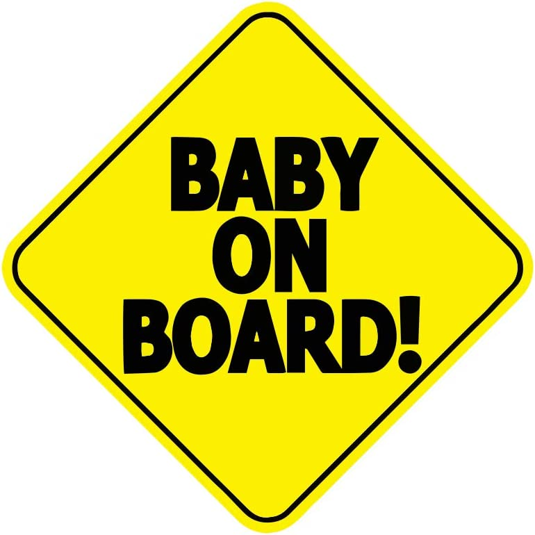 Auto Care Child On Board Car Window Safety Sign