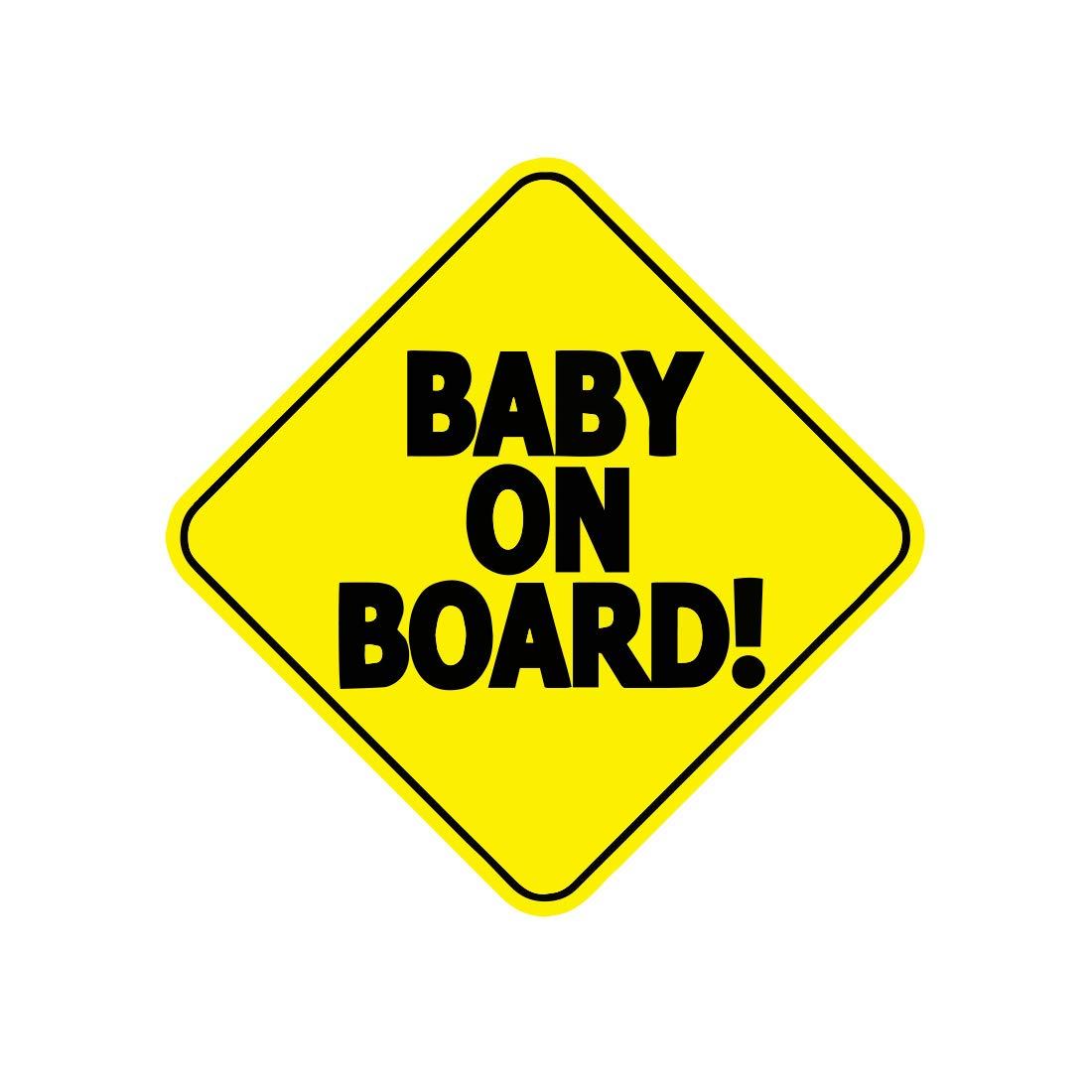 Baby On Board Panneau Sécurité Bébé autocollant pour voiture 5x 5par stickychimp