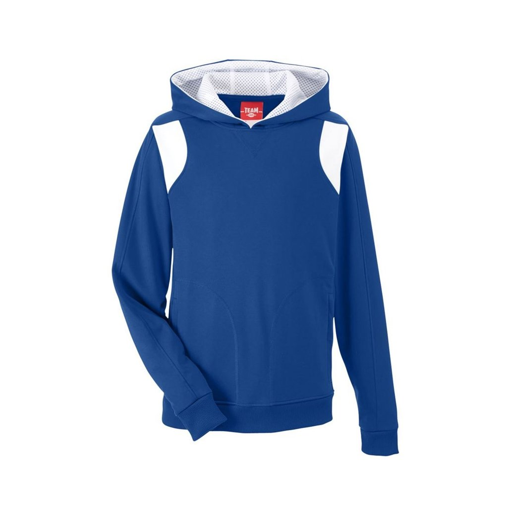 Ash City Apparel Team 365 Youth Elite Performance Hoodie (Youth Large, Sport Royal/White) by Ash City Apparel