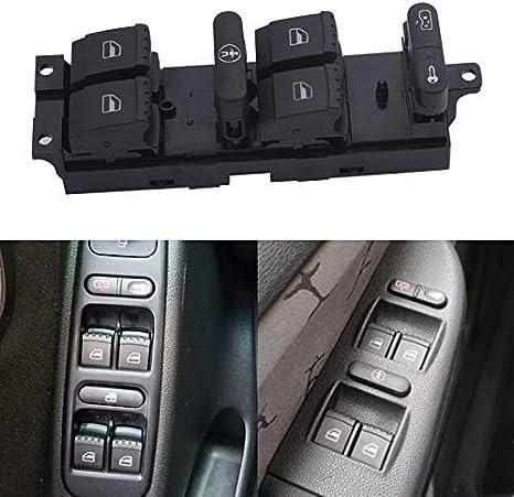 Color : Red Fit for VW//Fit for Passat//Fit for Golf//Fit for Jetta MK4 B5 1999 2000 2001 2002 2003 2004 3BD959857 Elektrische Fenstersteuerung Schalter Power Double-Fenster-Schalter Taste