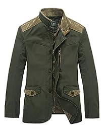 HengJia Men's Autumn Casual Jacket Lightweight Hooded Coats